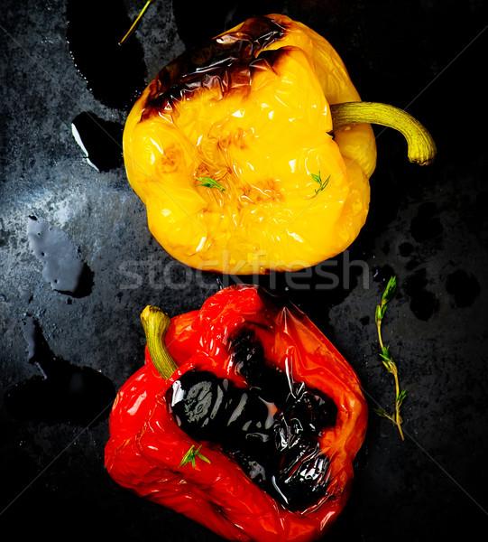 sweet pepper a grill on a baking sheet Stock photo © zoryanchik