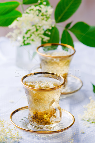 Stock photo: tea with  elderberry