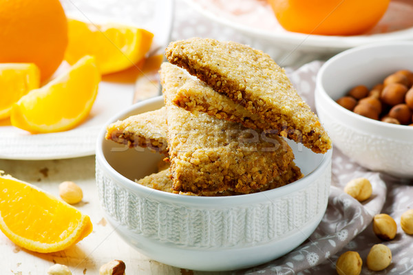hazelnut orange shortbread.style rustic Stock photo © zoryanchik