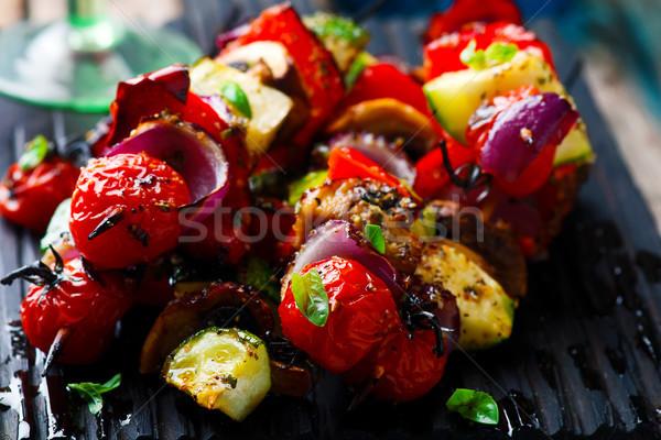 herbed Grilled vegetables skewers Stock photo © zoryanchik