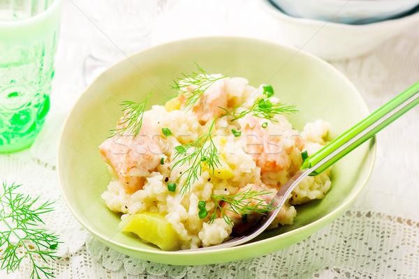 Slow Cooker Salmon Risotto Stock photo © zoryanchik