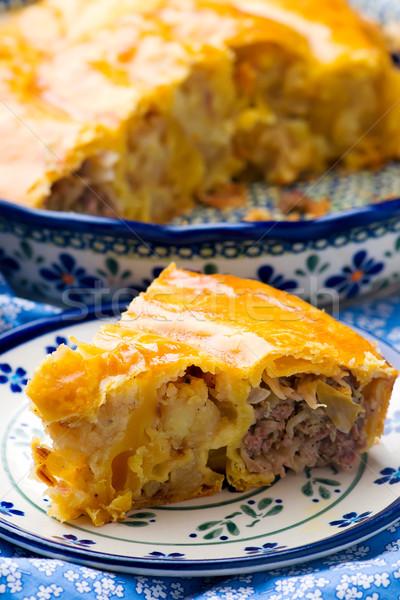 Vertuta with meat and potato Stock photo © zoryanchik