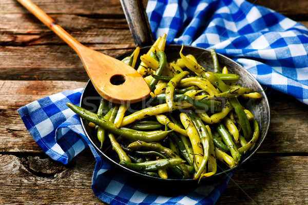 Green Beans with Tarragon Stock photo © zoryanchik