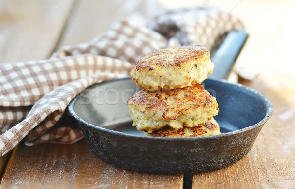Stock photo: chicken patties