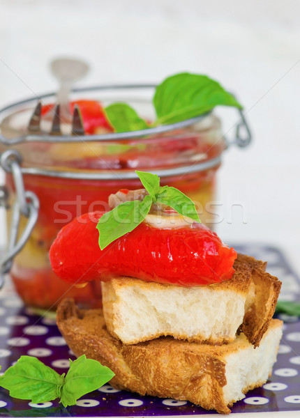 marinaded in Italian sweet pepper  Stock photo © zoryanchik