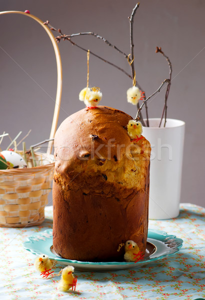 Easter kulich.traditional Russian easter pastries.  Stock photo © zoryanchik