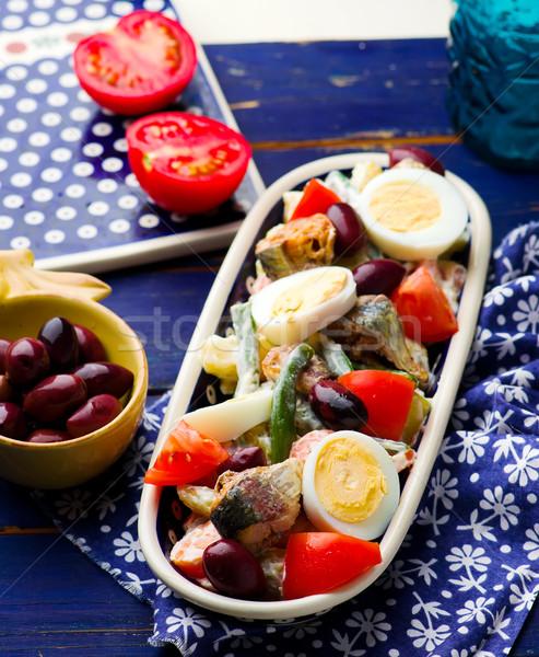 Mixed Vegetable and Sardine Salad Stock photo © zoryanchik