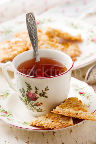 oatmeal shortbread..style rustic Stock photo © zoryanchik