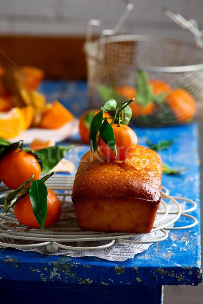 Mandarijn focus voedsel zoete snack heerlijk Stockfoto © zoryanchik