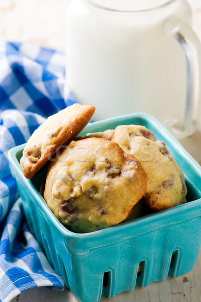 pecan and chocolate  cookies.style rustic Stock photo © zoryanchik