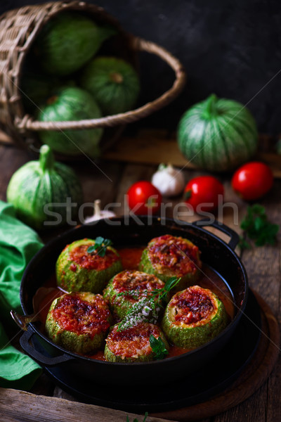 Lebanese stuffed zuccini..selective focus Stock photo © zoryanchik