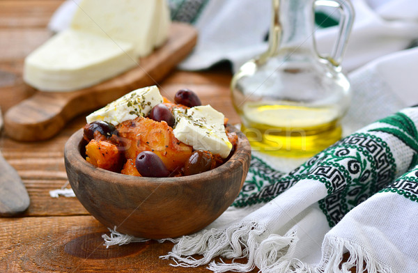 potato ragout on - is Greek with feta and olives  Stock photo © zoryanchik