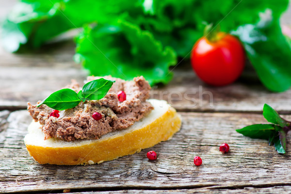 paste from a chicken liver. Stock photo © zoryanchik