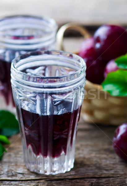 slivovitz. alcoholic drink from plum. Stock photo © zoryanchik