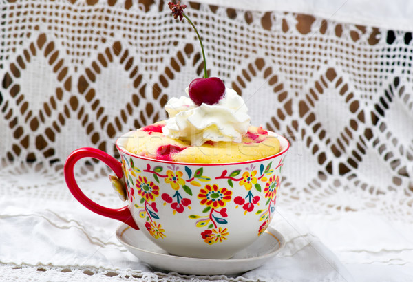 mug cake prepared in microwave  Stock photo © zoryanchik