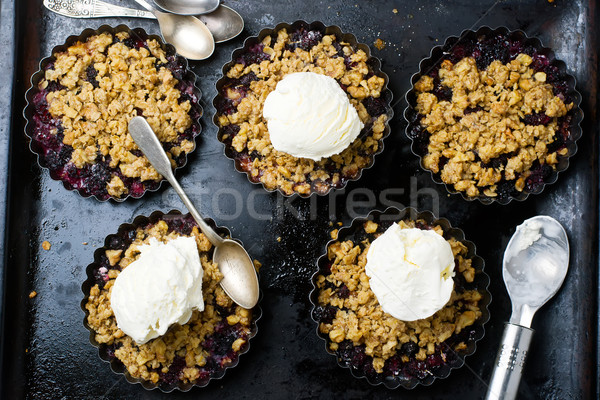 Crumble with a mulberry. style vintage Stock photo © zoryanchik
