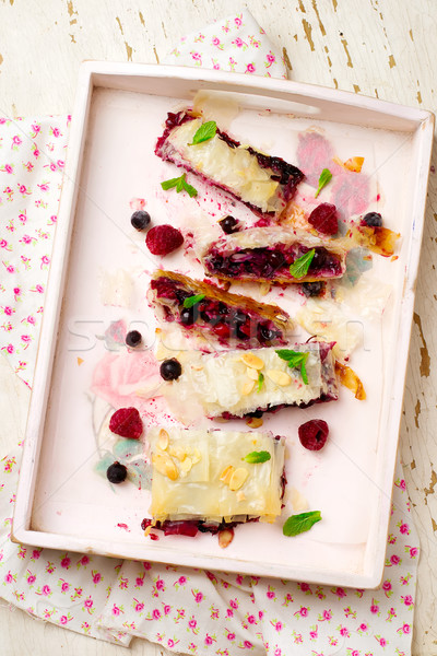 BERRY  STRUDEL .selective focus.  Stock photo © zoryanchik