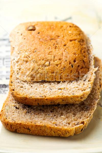 bread baked in the bread machine Stock photo © zoryanchik