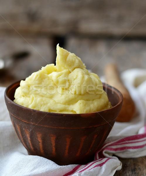 Ziemniaki żywności świeże naczyń puchar Zdjęcia stock © zoryanchik