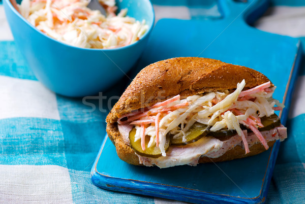 sandwiches with pork and cole slow Stock photo © zoryanchik