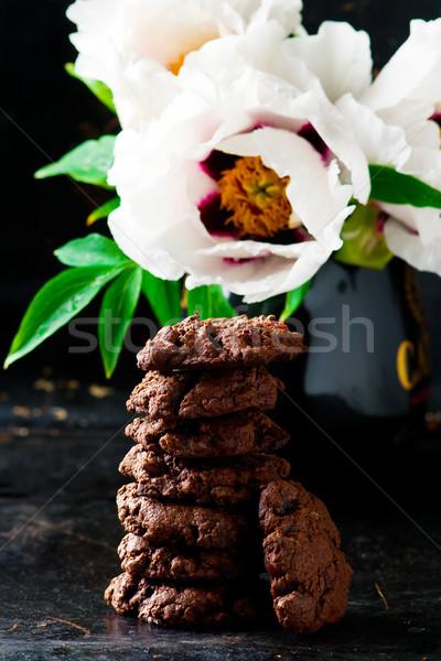 チョコレート チップ クッキー 甘い クッキー ブラウン ストックフォト © zoryanchik