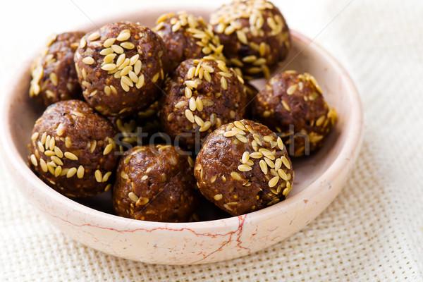 Egészséges házi készítésű cukorkák stílus klasszikus szelektív fókusz Stock fotó © zoryanchik