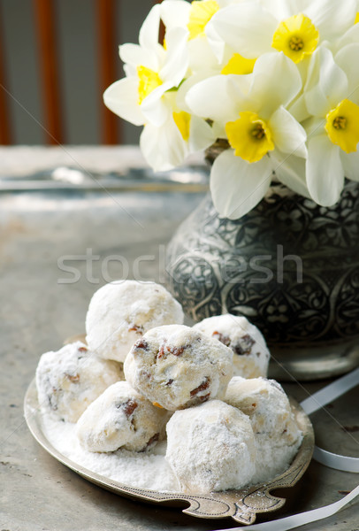 Mexican mariage sweet cookie cookies brun Photo stock © zoryanchik