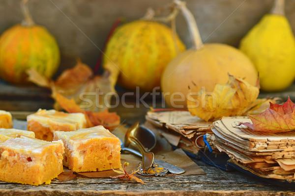 Stock photo: pumpkin pie about cream cheese