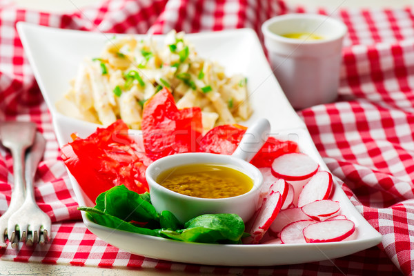 Antipasto Salad.style rustic. selective focus Stock photo © zoryanchik
