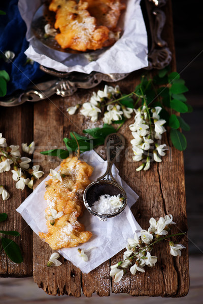 Acacia flower fritters.style rustic Stock photo © zoryanchik