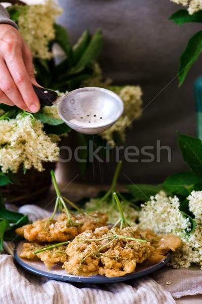 elderflower blossoms deep-fried..style vintage Stock photo © zoryanchik
