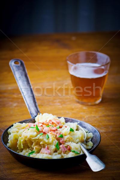 Irlandzki naczyń patelnia żywności gotowania warzyw Zdjęcia stock © zoryanchik