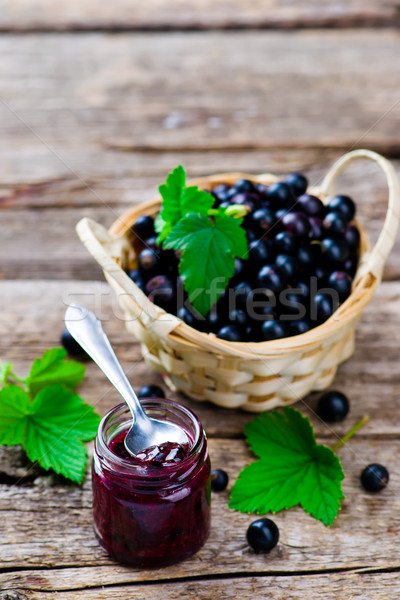 blackcurrant jam.  Stock photo © zoryanchik