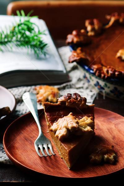 Dynia rustykalny selektywne focus żywności deser spadek Zdjęcia stock © zoryanchik