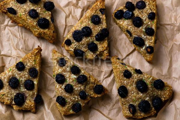wholegrain skone with blueberry Stock photo © zoryanchik