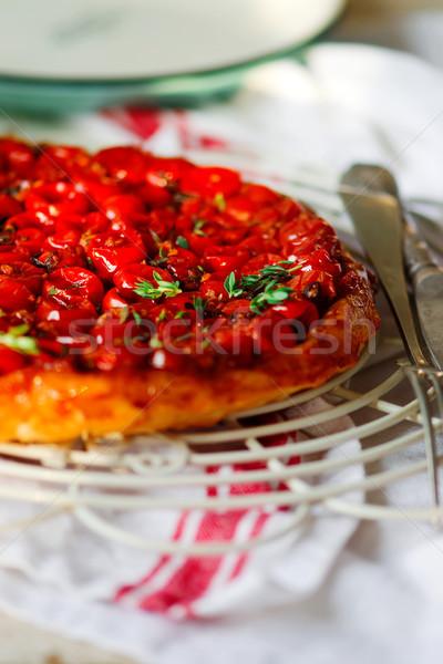 томатный деревенский продовольствие обеда красный белый Сток-фото © zoryanchik