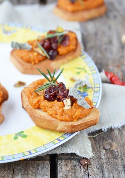 Bruschetta kenyér ősz egészséges olasz konyha Stock fotó © zoryanchik
