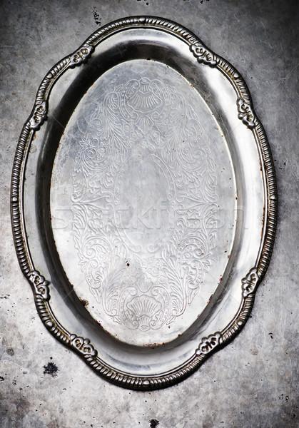 Vintage посуда металл старые стиль избирательный подход Сток-фото © zoryanchik