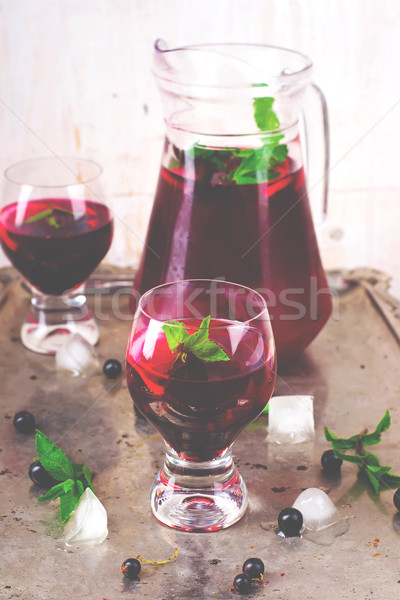 cold drink from blackcurrant  Stock photo © zoryanchik