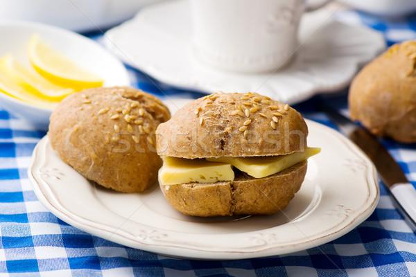 ライ麦 チーズ 朝食 スタイル ヴィンテージ 選択フォーカス ストックフォト © zoryanchik