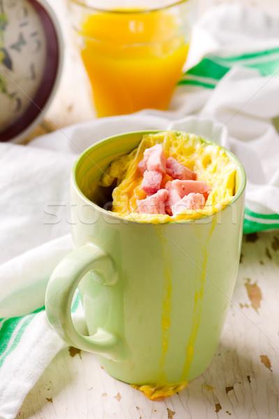Bögre fókusz étel reggeli ebéd zöldség Stock fotó © zoryanchik