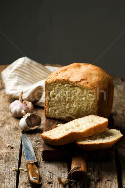 буханка чесночный хлеб стиль деревенский хлеб Сток-фото © zoryanchik