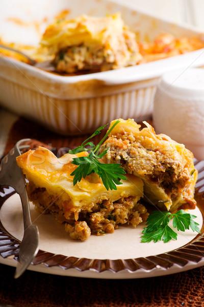 Lavash chicken pie.style rustic Stock photo © zoryanchik