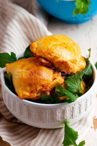 Papa rústico empanadas estilo atención selectiva alimentos Foto stock © zoryanchik