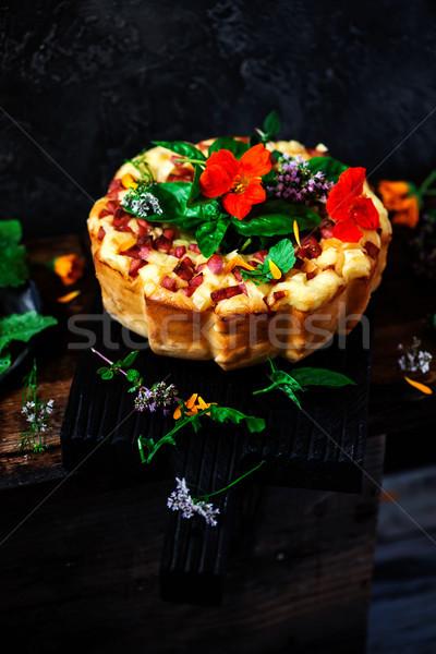 Bolo foco queijo estilo rústico Foto stock © zoryanchik