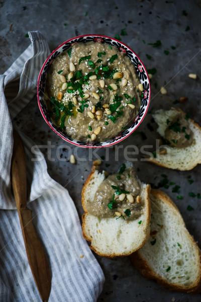 茄子 ディップ スタイル 素朴な 選択フォーカス 食品 ストックフォト © zoryanchik