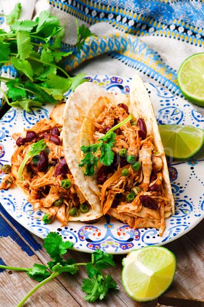 Stock fotó: Lassú · tyúk · mexikói · étel · Mexikó · falatozó
