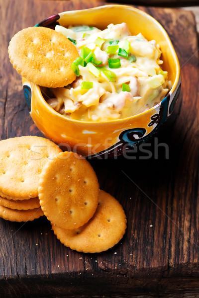チーズ ベーコン ディップ 選択フォーカス ストックフォト © zoryanchik