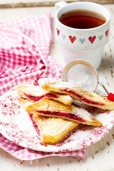 French toast stuffed cherry. Stock photo © zoryanchik