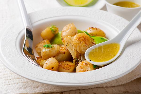 Grillowany koper wapno masło selektywne focus żywności Zdjęcia stock © zoryanchik